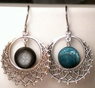 Niobium Titanium Druzy Gemball Earrings