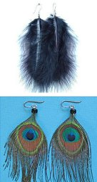 Niobium Titanium Feather Earrings